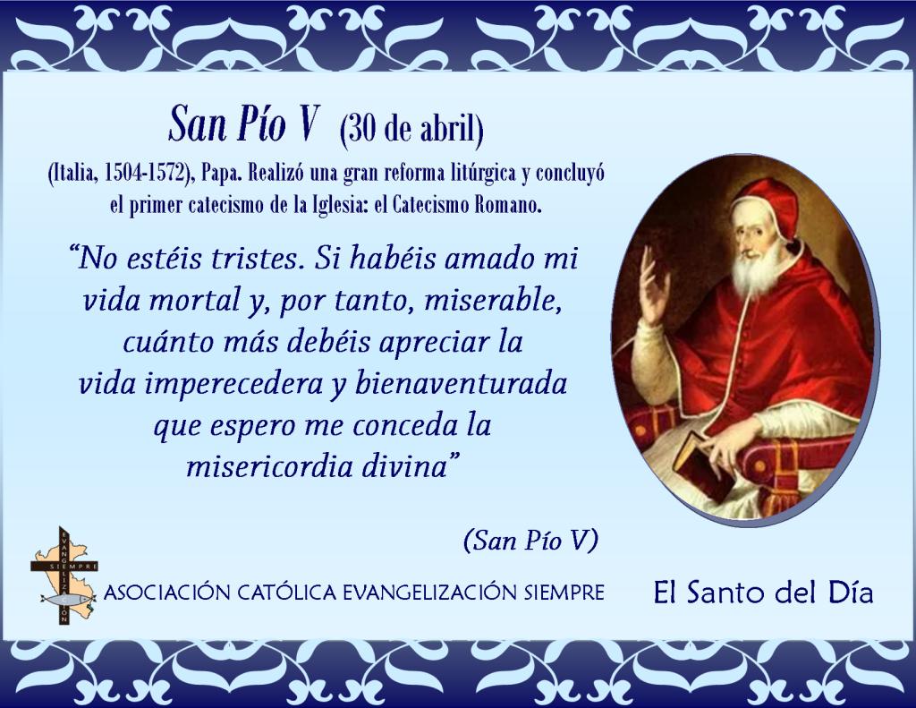 30 abril San Pío V