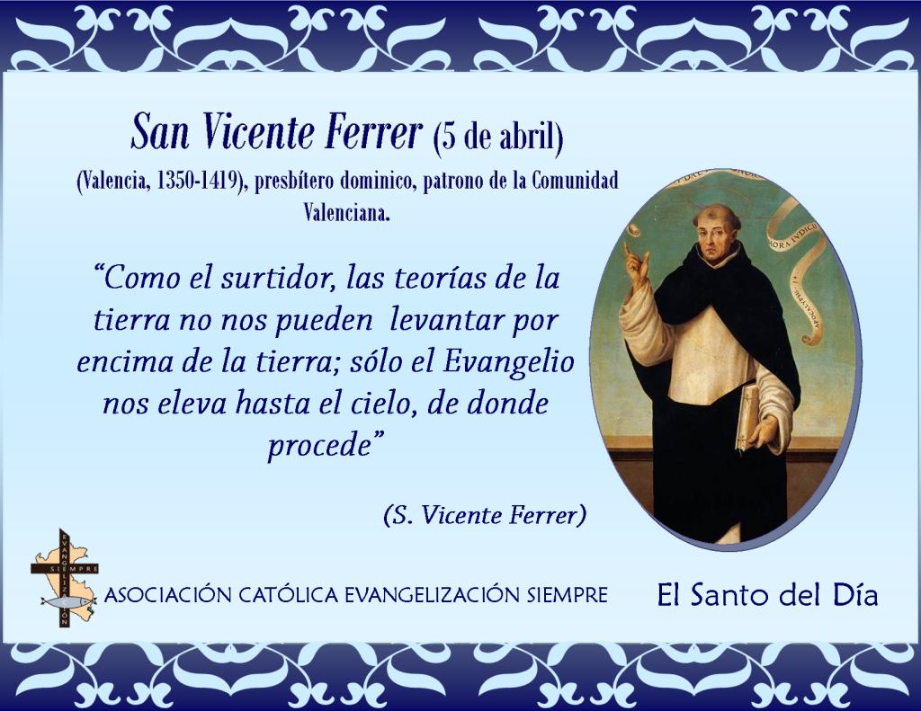 5 abril San Vicente Ferrer