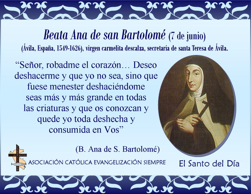 7 de junio Beana Ana de Bartalomé