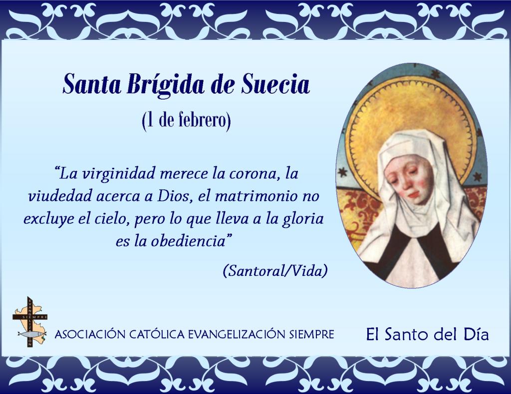 1 febrero Santa Brígida