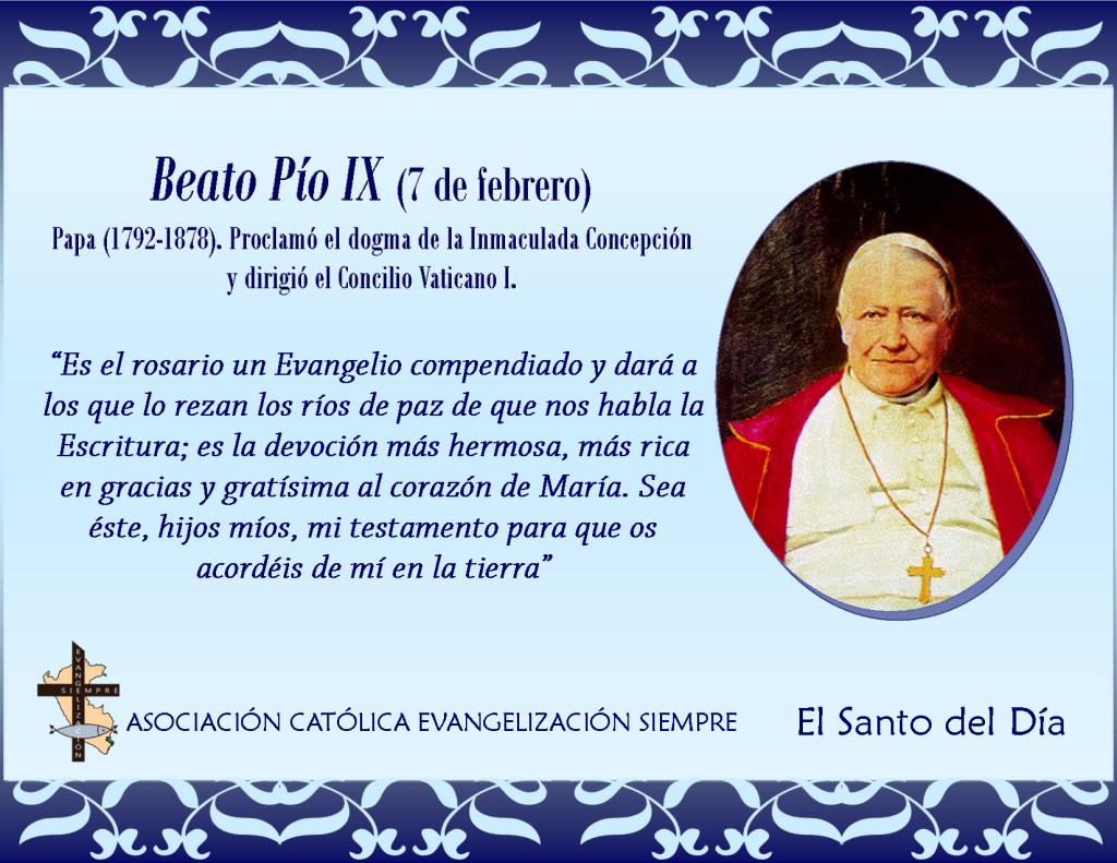 7 febrero Beato Pío IX