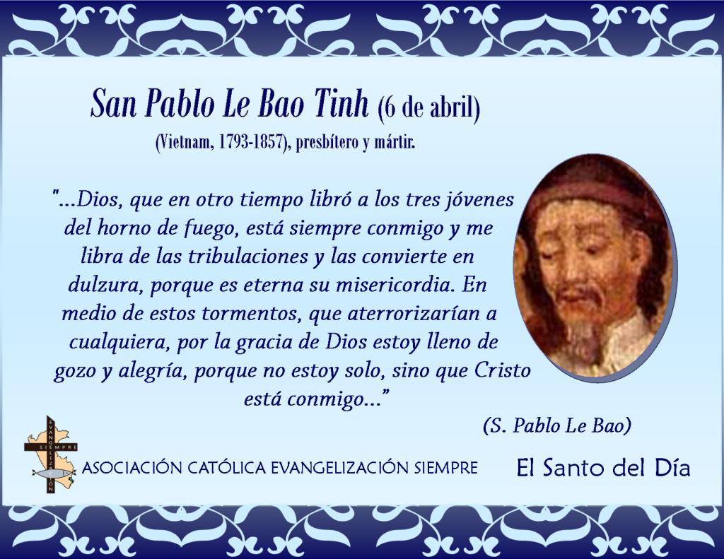 6 abril San Pablo Le Bao Tinh