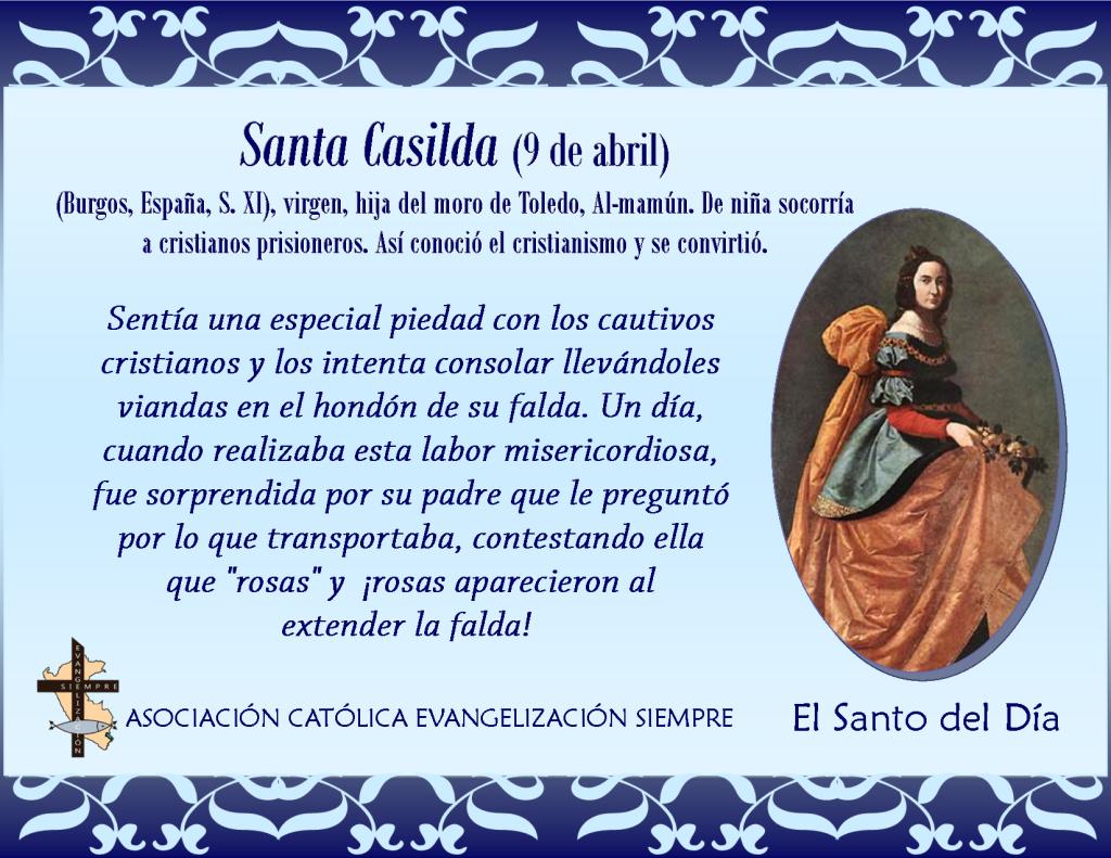 9 abril Santa Casilda
