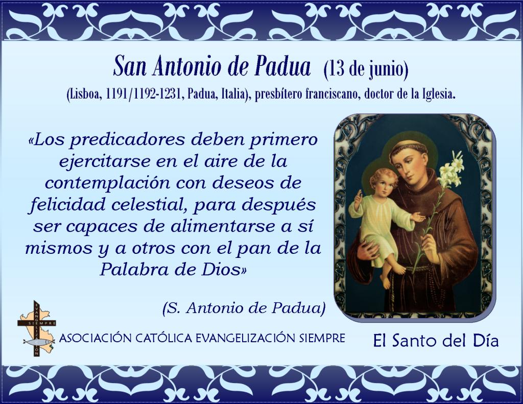 13 de junio San Antonio de Padua