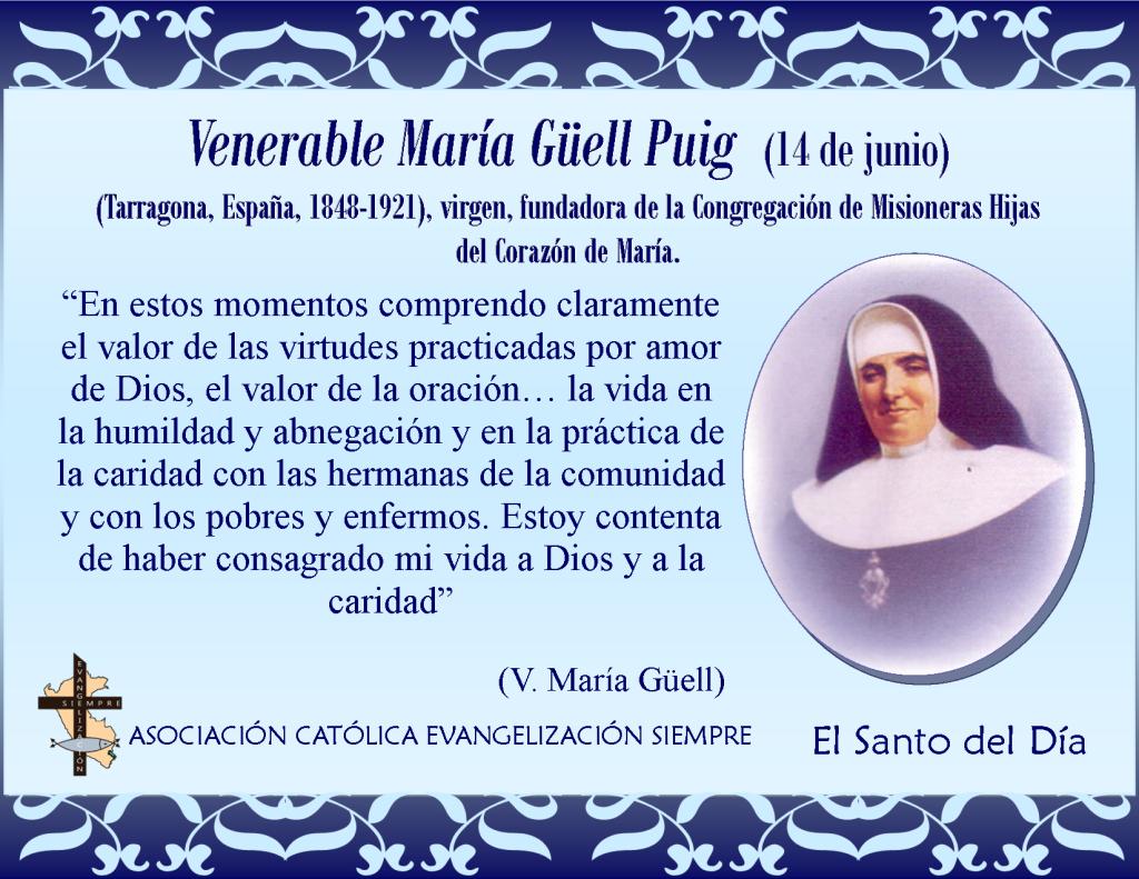 14 de junio Venerable María Güel Paig