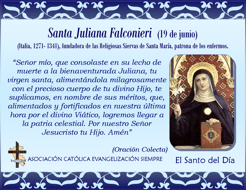 19 de junio San Juliana Falconieri